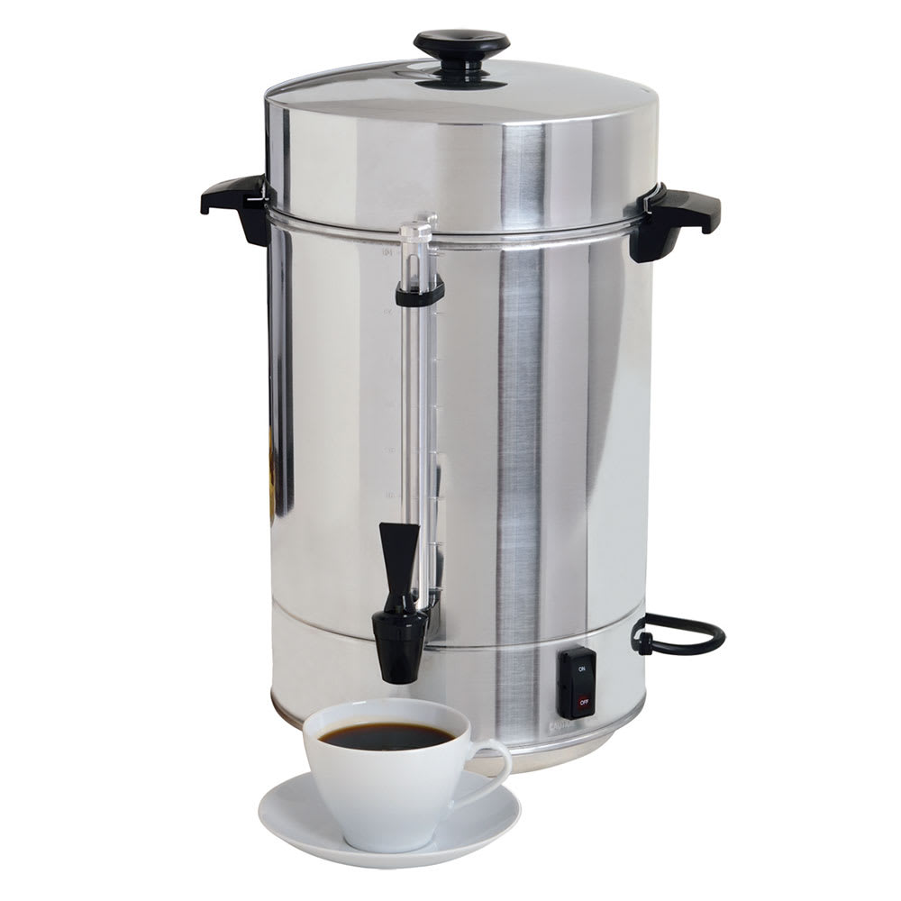 Focus 58001R West Bend 101 Cup Commercial Aluminum Coffeepot, Polished Exterior