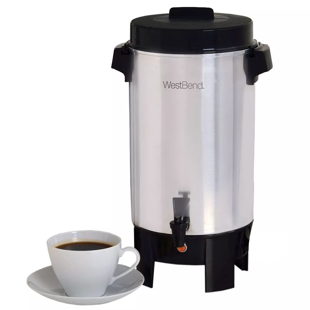 Focus 58002 West Bend® 42-cup Urn Coffee Maker w/ Level Markings, Aluminum