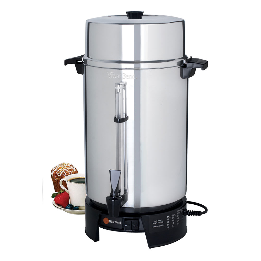 how to clean a 100 cup coffee maker