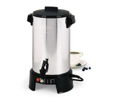 Focus 58016V 36 Cup Aluminum West Bend Coffee Maker, 220-240V