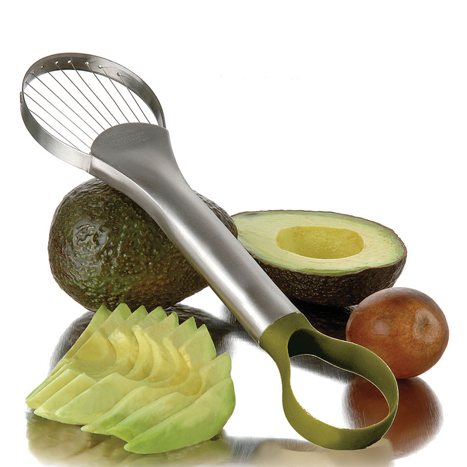 """Focus 8685 Avocado Slicer And Pitter, 9-1/2""""L, Nylon Loop End,Stainless Wire"""