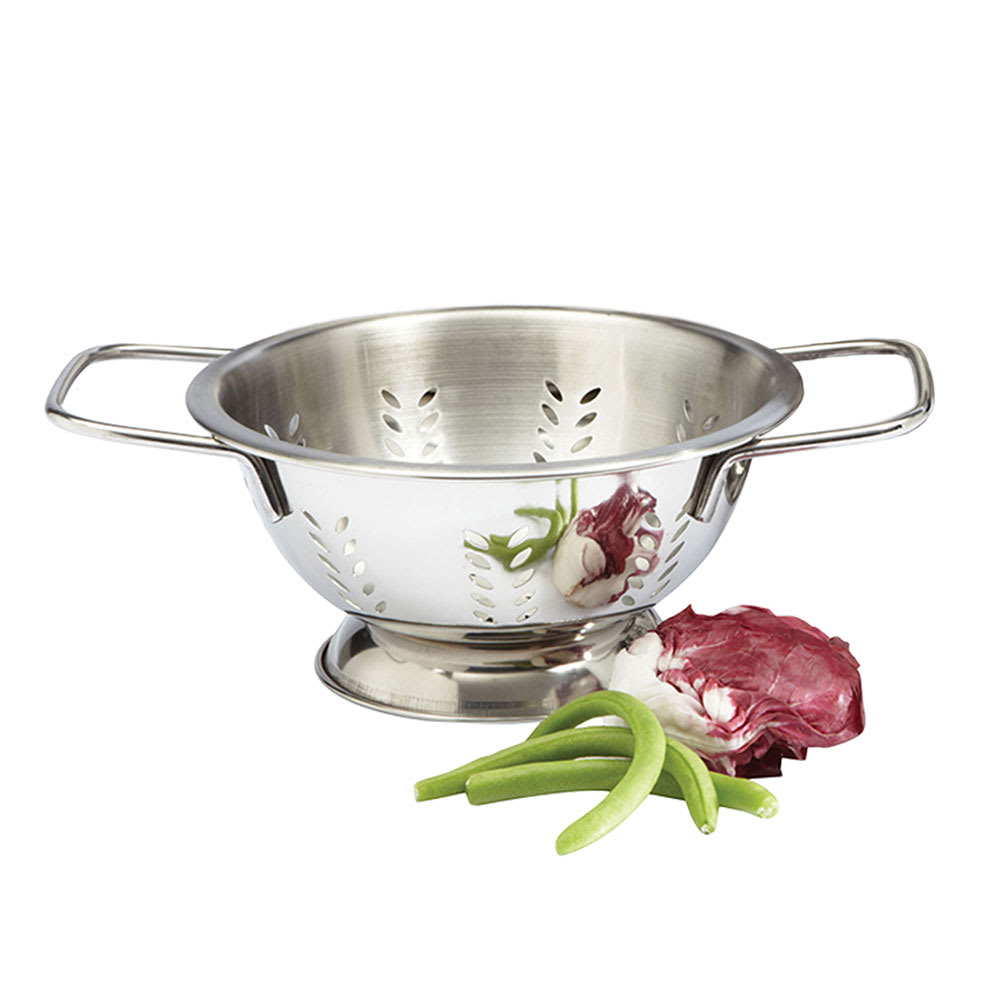 """Focus 895 2-qt Colander, Footed Base, Stainless, 8 x 4-3/8"""""""