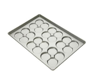 Focus 902445 Clustered Hamburger Bun Pan, Holds (24) 3-3/4 in Rolls, Aluminum