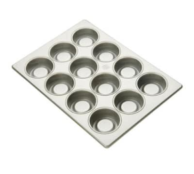 Focus 903395 Strawberry Shortcake Pan Holds (24) 3-3/8-in Cake, Glazed Aluminum