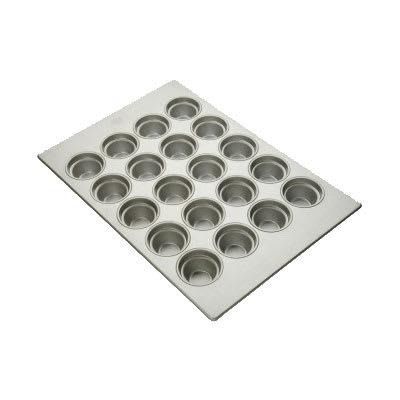"Focus 904555 Large Crown Muffin Pan Holds (20) 3-1/2"" Muffins, Glazed Aluminum"