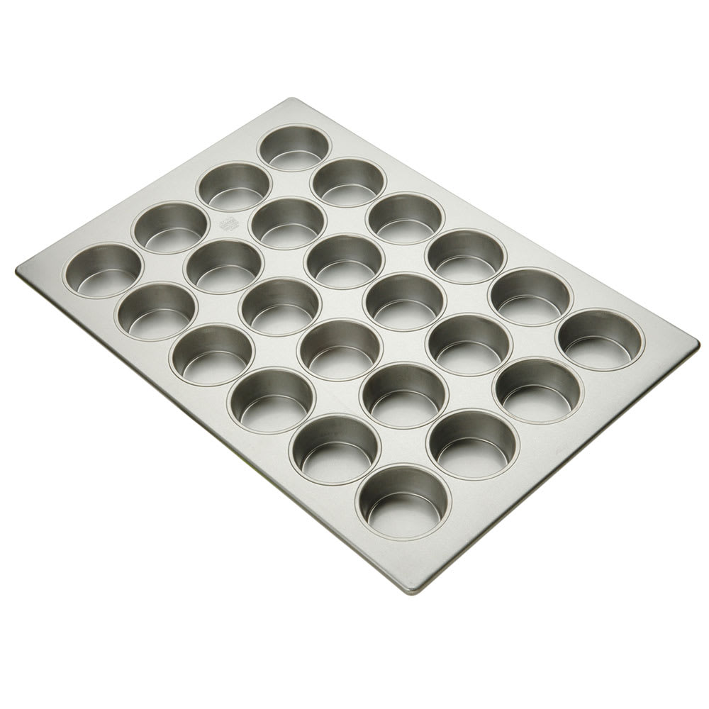 "Focus 905445 Jumbo Muffin Pan Holds (24) 3 3/8"" Muffins, Glazed Aluminum"