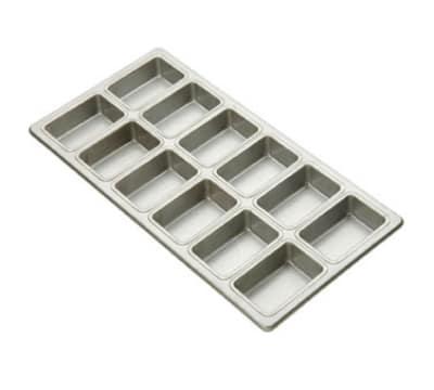 Focus 905725 Mini Loaf Pan Holds (28) Mini Loaves, Aluminum