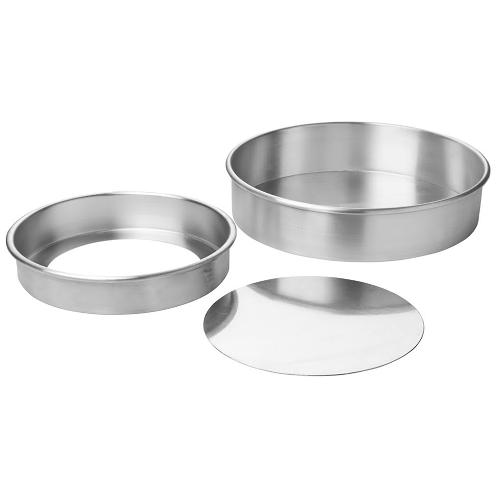 Focus 90ACC102 Rolled Edge Cheesecake Pan, Removable Bottom, Aluminum, 10 x 2 in