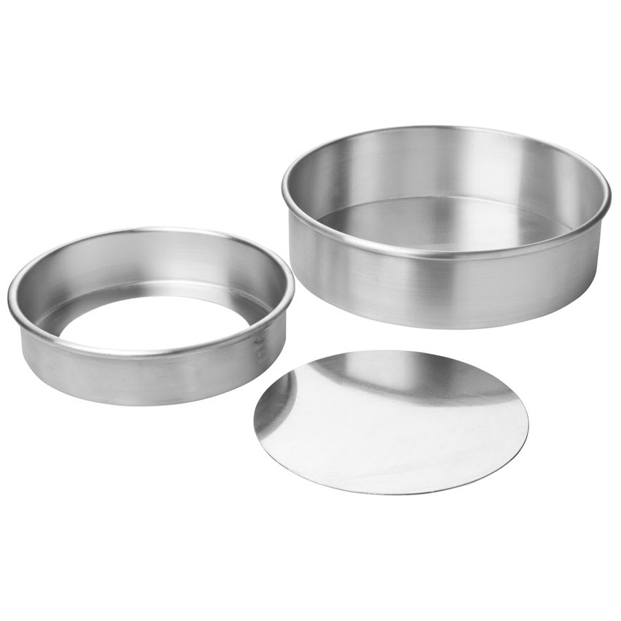 Focus 90ACC92 Rolled Edge Cheesecake Pan, Removable Bottom, Aluminum, 9 x 2 in