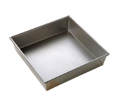 Focus 977953 Cake Pan, Square, 9 in x 9 in, Aluminized Steel, Natural Finish