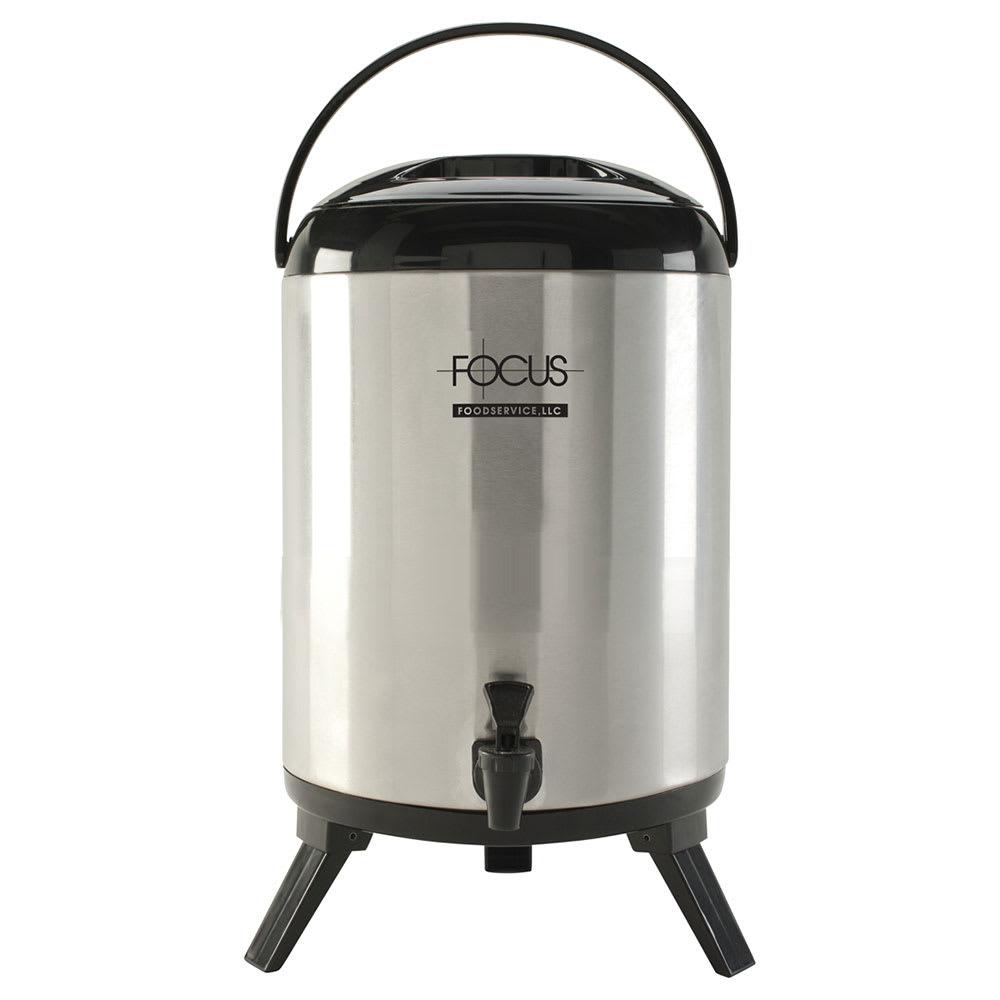 Focus BD95SS 9.5 liter Insulated Beverage Dispenser, Stainless