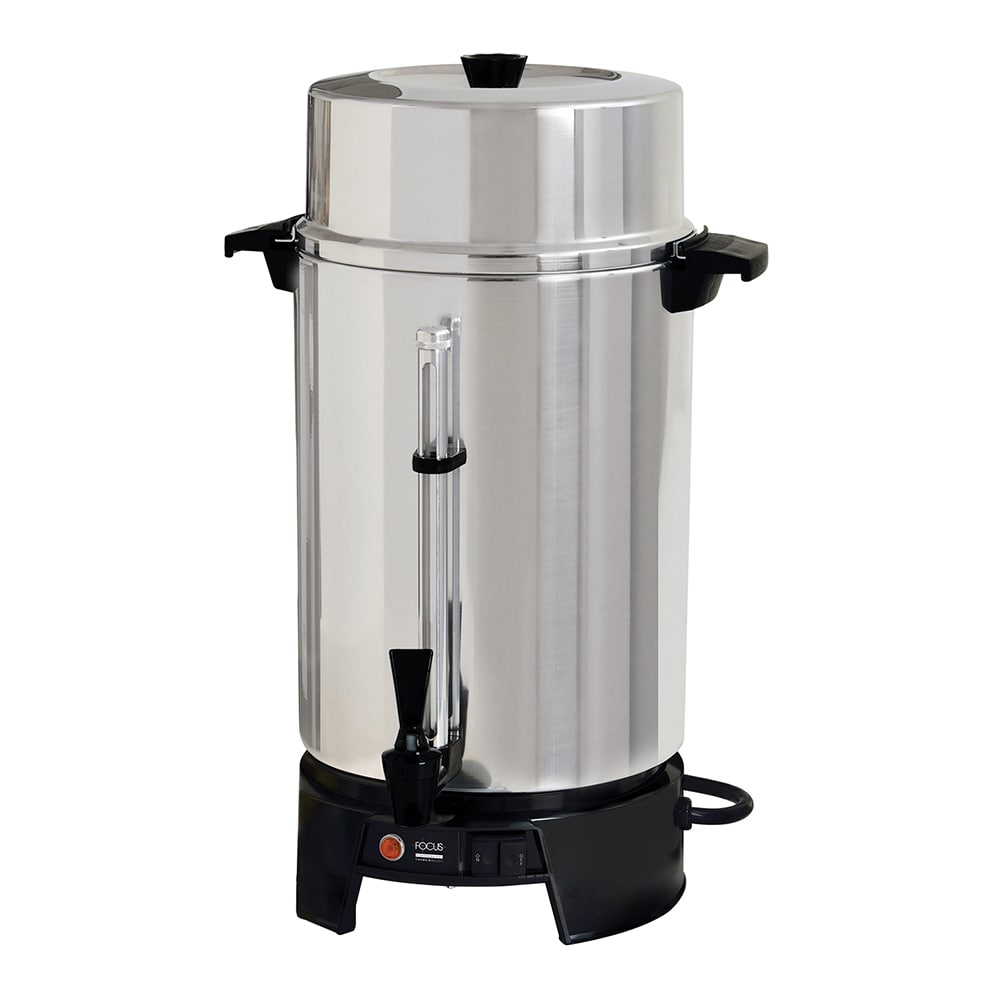 Focus FCMLA100 100 cup Coffee Maker w/ Brew-View Gauge - Aluminum, 120v