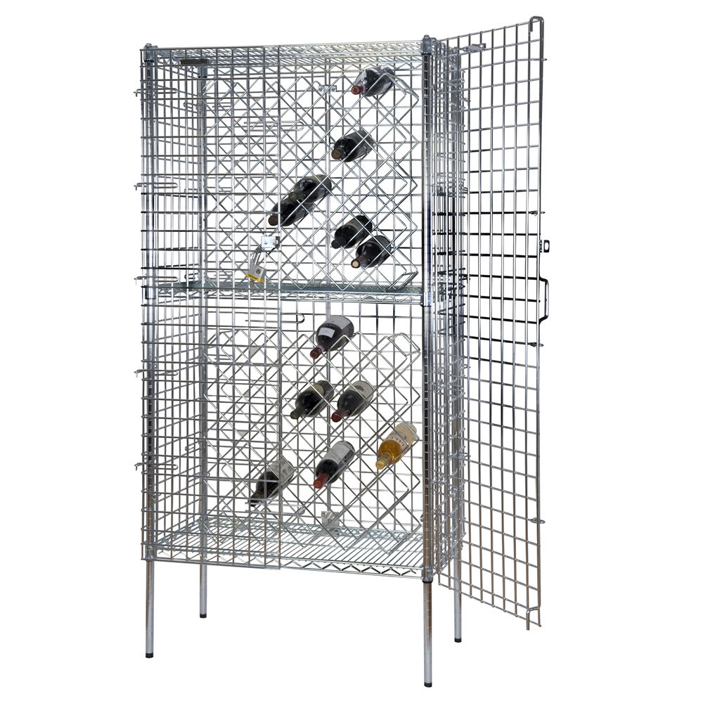 "Focus FDSWR2448CH 74""H Commercial Wine Rack w/ (192) Bottle Capacity, Chrome"