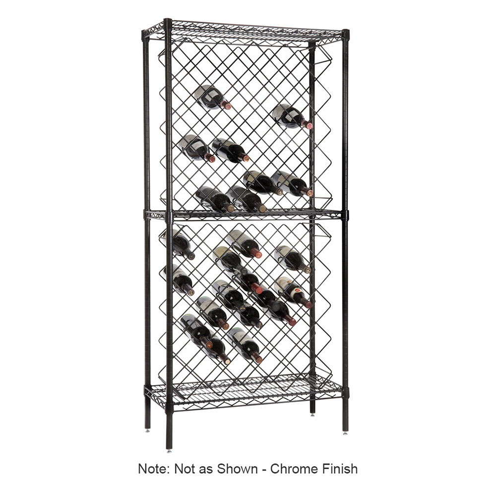 """Focus FDWR82CH 63""""H Display Commercial Wine Rack w/ (82) Bottle Capacity, Chrome"""