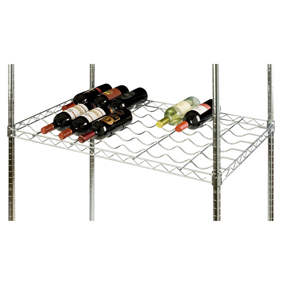 Focus FDWS2448CH Commercial Wine Shelf w/ (24) Bottle Capacity, Chrome