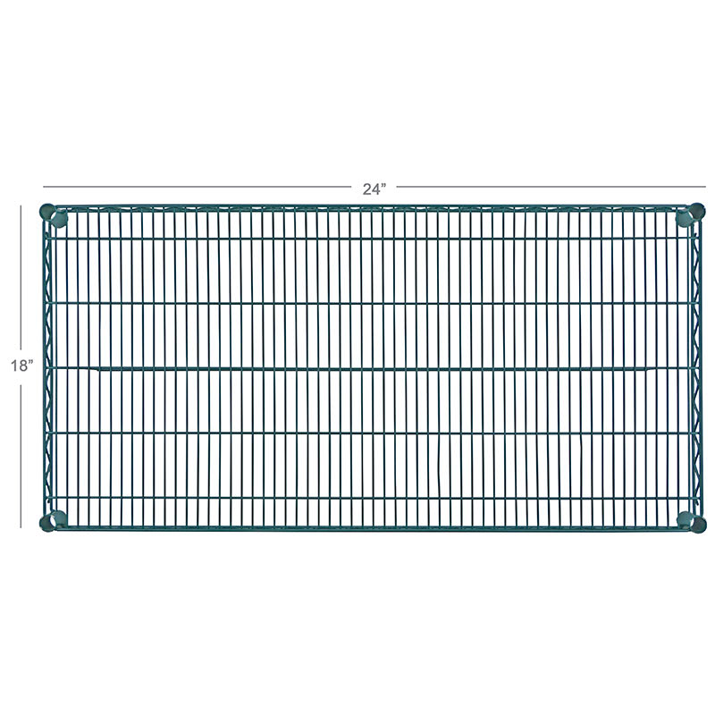 "Focus FF1824G Epoxy Coated Wire Shelf - 24""W x 18""D"