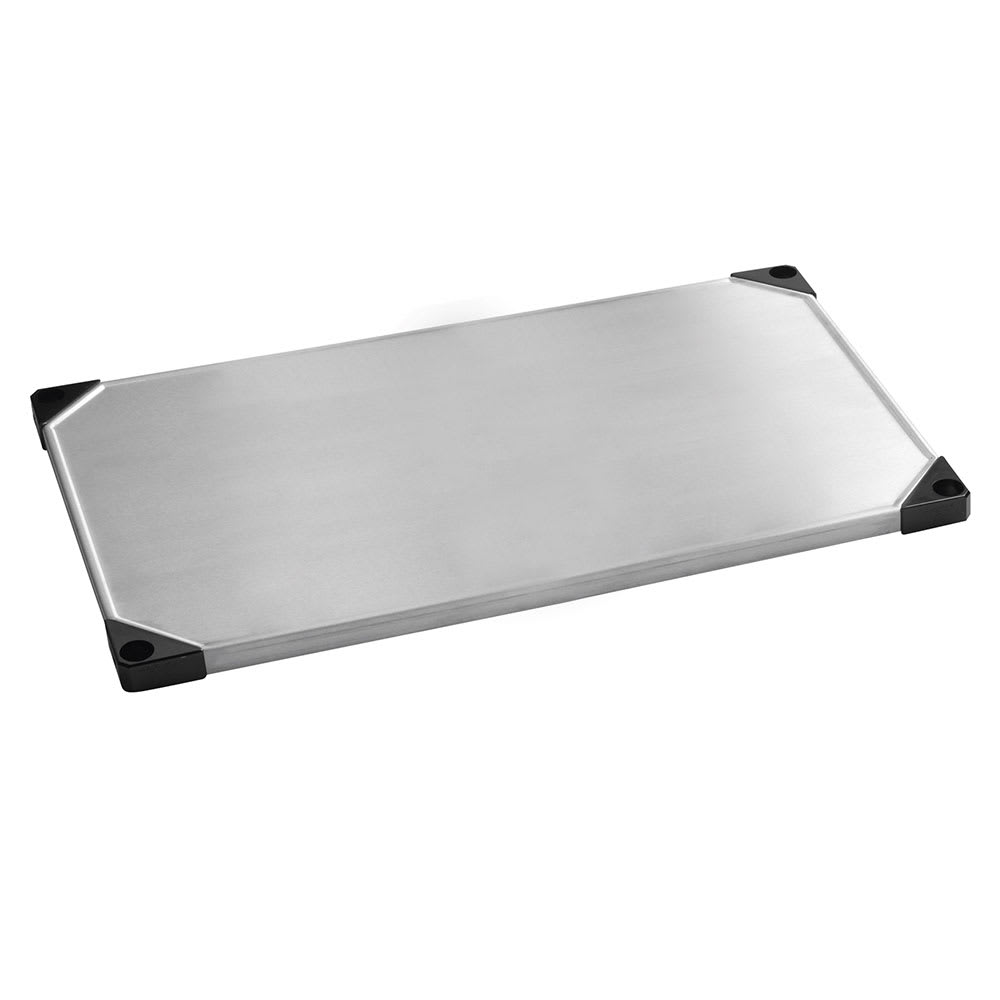 "Focus FF1842SSS Stainless Steel Solid Shelf - 42""W x 18""D"