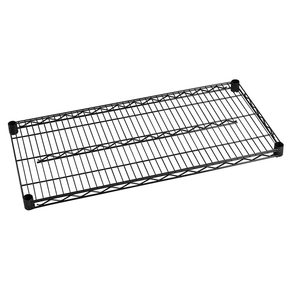 "Focus FF1848BK Epoxy Coated Wire Shelf - 18x48"""