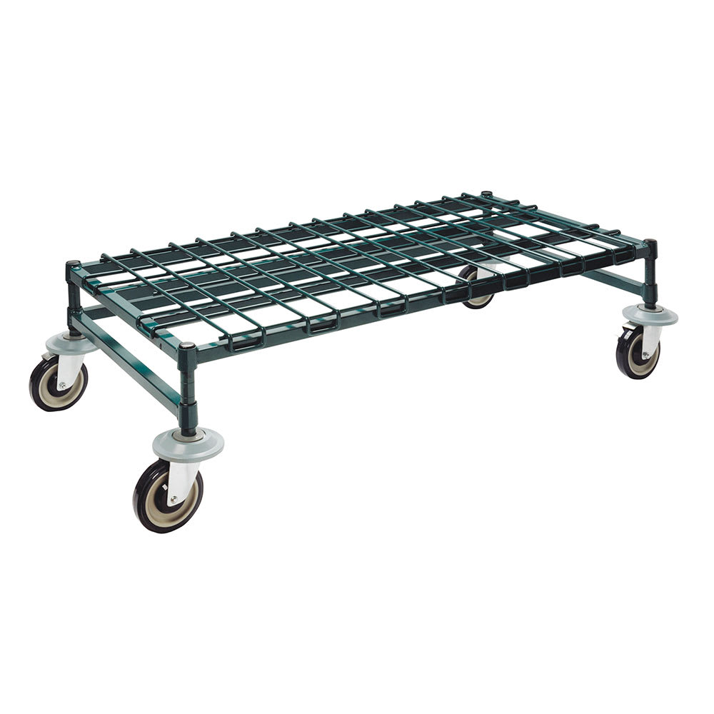"""Focus FFMDR2424GN 24"""" Mobile Dunnage Rack w/ 800-lb Capacity, Epoxy-Coated Wire"""