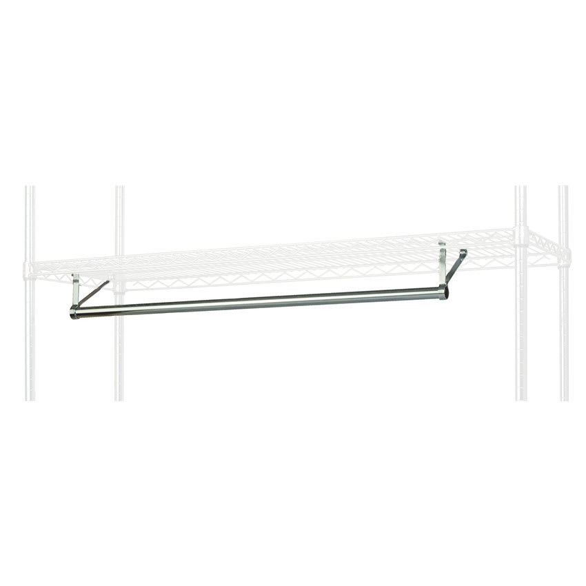 "Focus FHR481424 48"" Garment Hanger Rod w/ Brackets Fits 14 x 24"" Shelf, NSF"