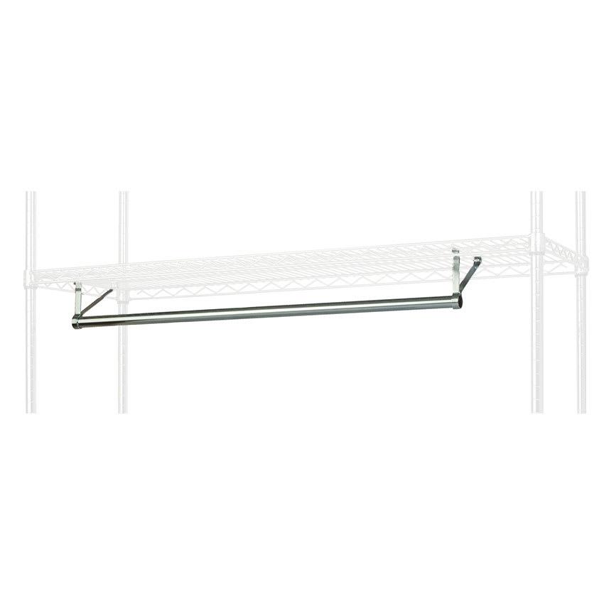 "Focus FHR601424 60"" Garment Hanger Rod w/ Brackets Fits 14 x 24"" Shelf, NSF"