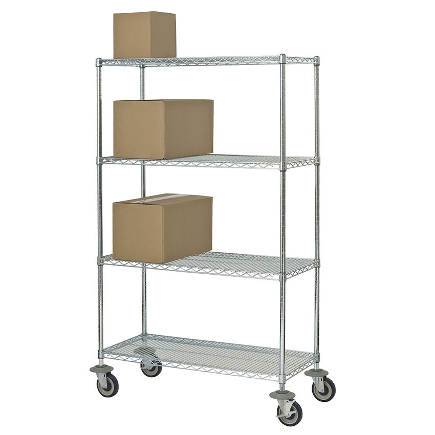 "Focus FMK2148694CH Chrome Wire Shelf Kit - 48""W x 21""D x 69""H"