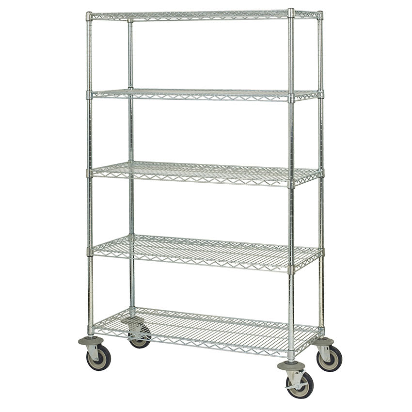 "Focus FMK2448695CH Chrome Wire Shelf Kit - 48""W x 24""D x 69""H"