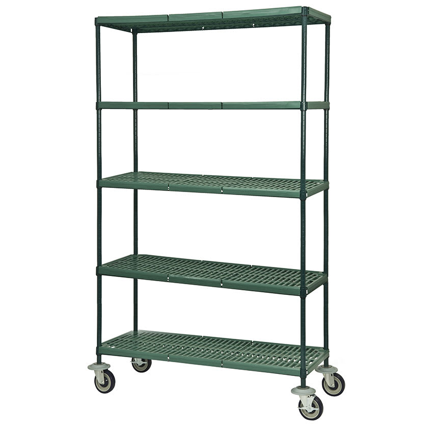 Focus FMPS2160695 Epoxy Coated Wire Shelving Unit w/ (5) Levels, 21x60x63""