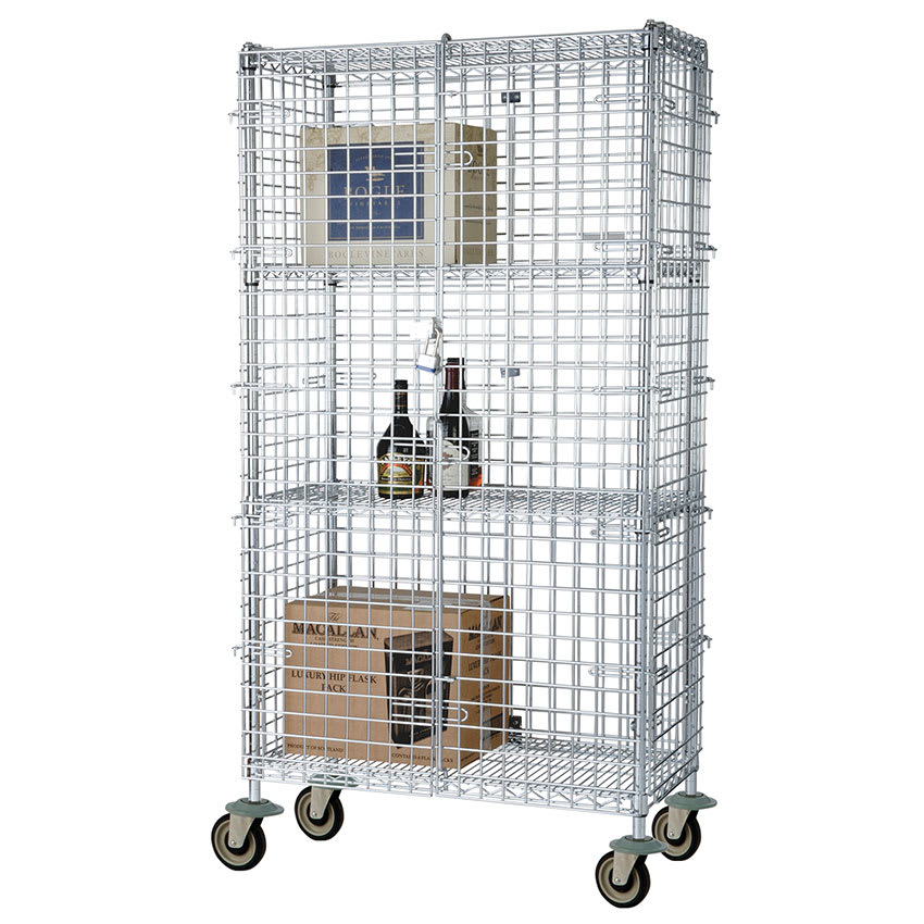 "Focus FMSEC24603 60"" Mobile Security Cage, 24""D"