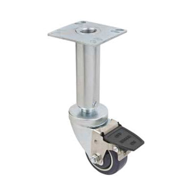 Focus FPCF353E 3-in Adjustable Plate Caster w/ Brake Fits Pitco Fryers, NSF