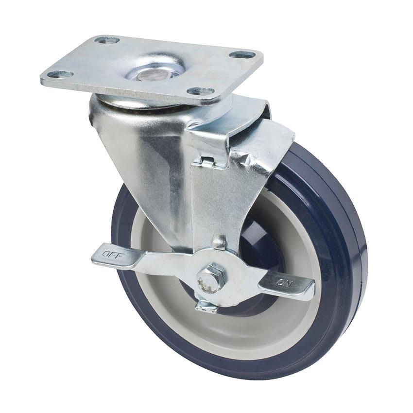 "Focus FPCST2X35 Universal Plate Caster w/ Brake, 250-lb Per Caster, 5"" Diameter"