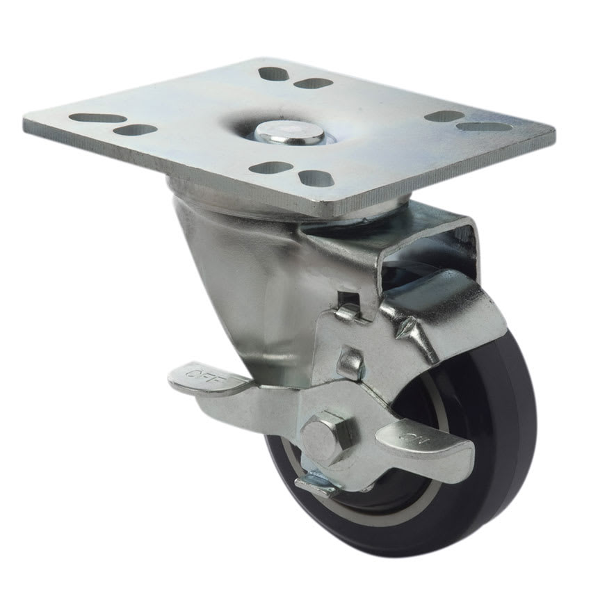 """Focus FPCST3 3"""" Universal Plate Casters w/ Brake"""