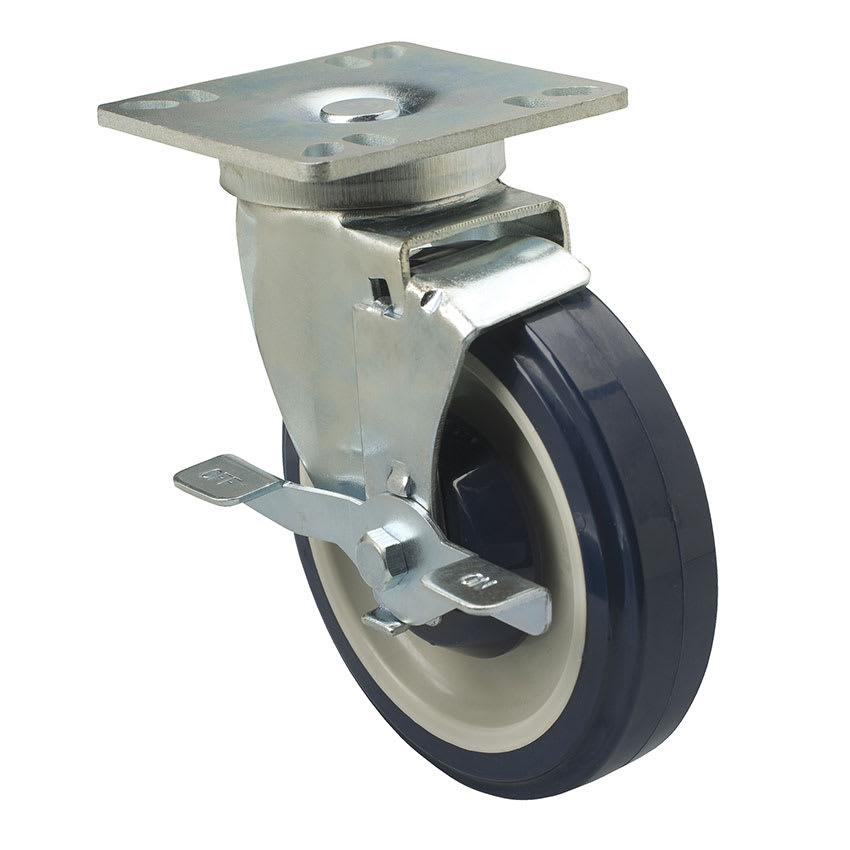 "Focus FPCST355 Universal Plate Caster Set w/ Brake, 250-lb Capacity, 5"" Diameter"