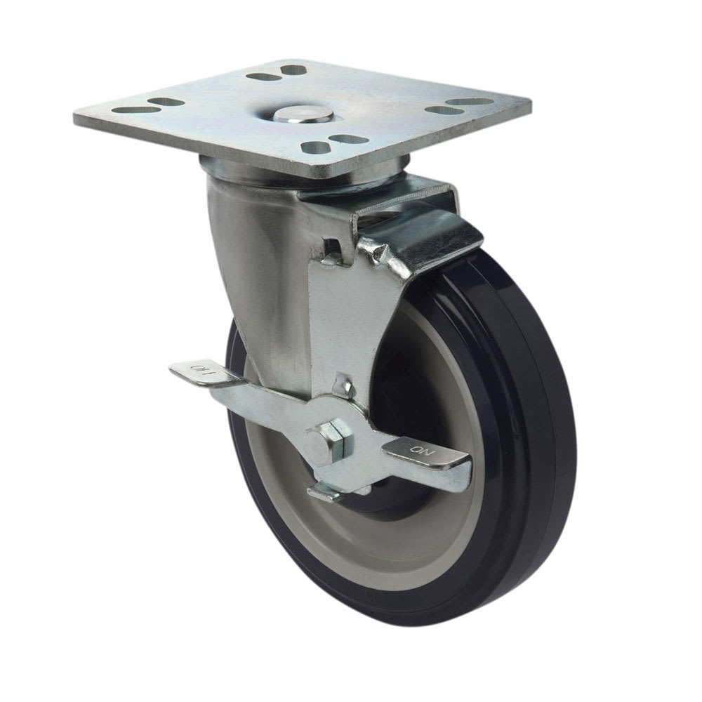 "Focus FPCST5 5"" Universal Plate Casters w/ Brake"