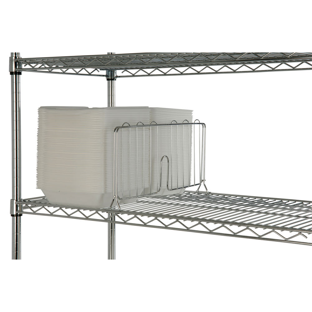 "Focus FSD18C Shelf Divider - 18"" x 8"", Chrome"