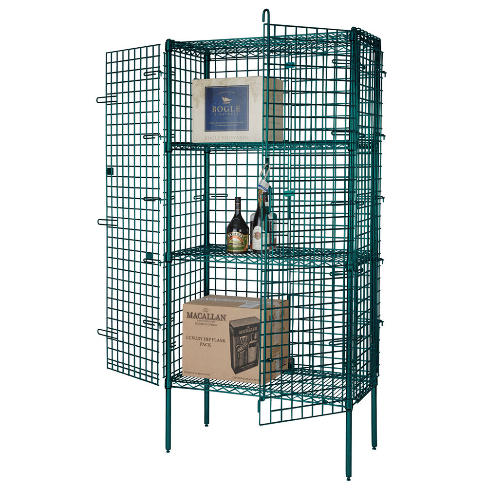 "Focus FSEC246063GN 60"" Stationary Security Cage, 24""D"