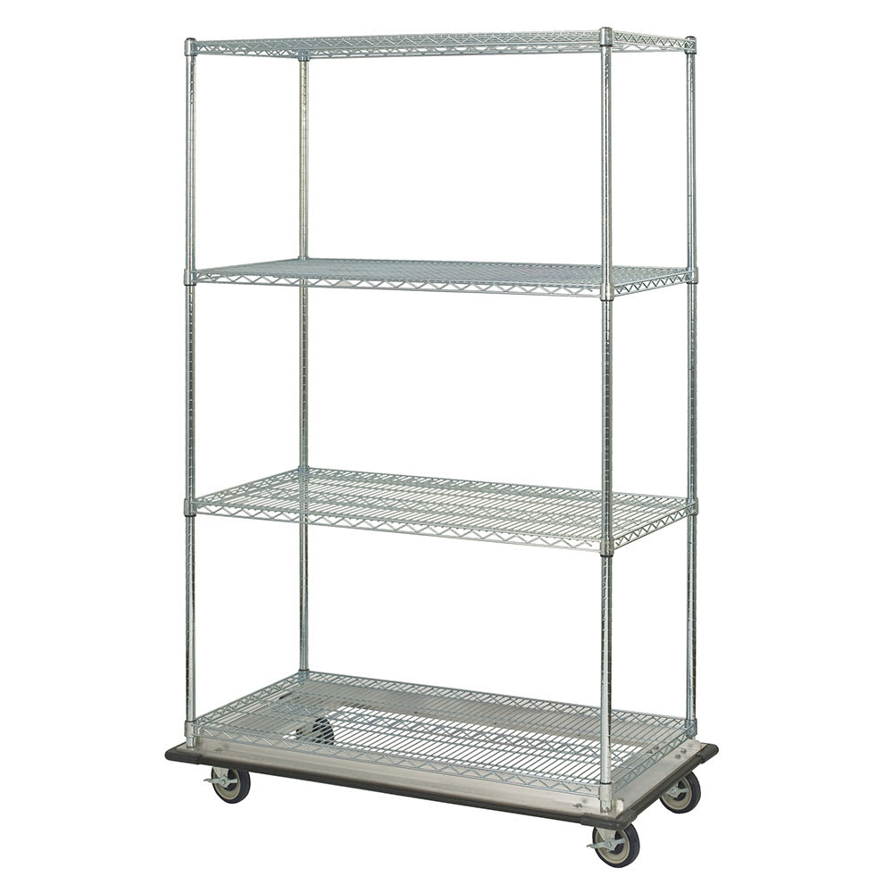 "Focus FST244863CH Chrome Wire Shelf Kit - 48""W x 24""D x 63""H"