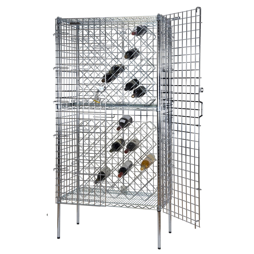 "Focus FSWR1836CH 74""H Commercial Wine Rack w/ (82) Bottle Capacity, Chrome"
