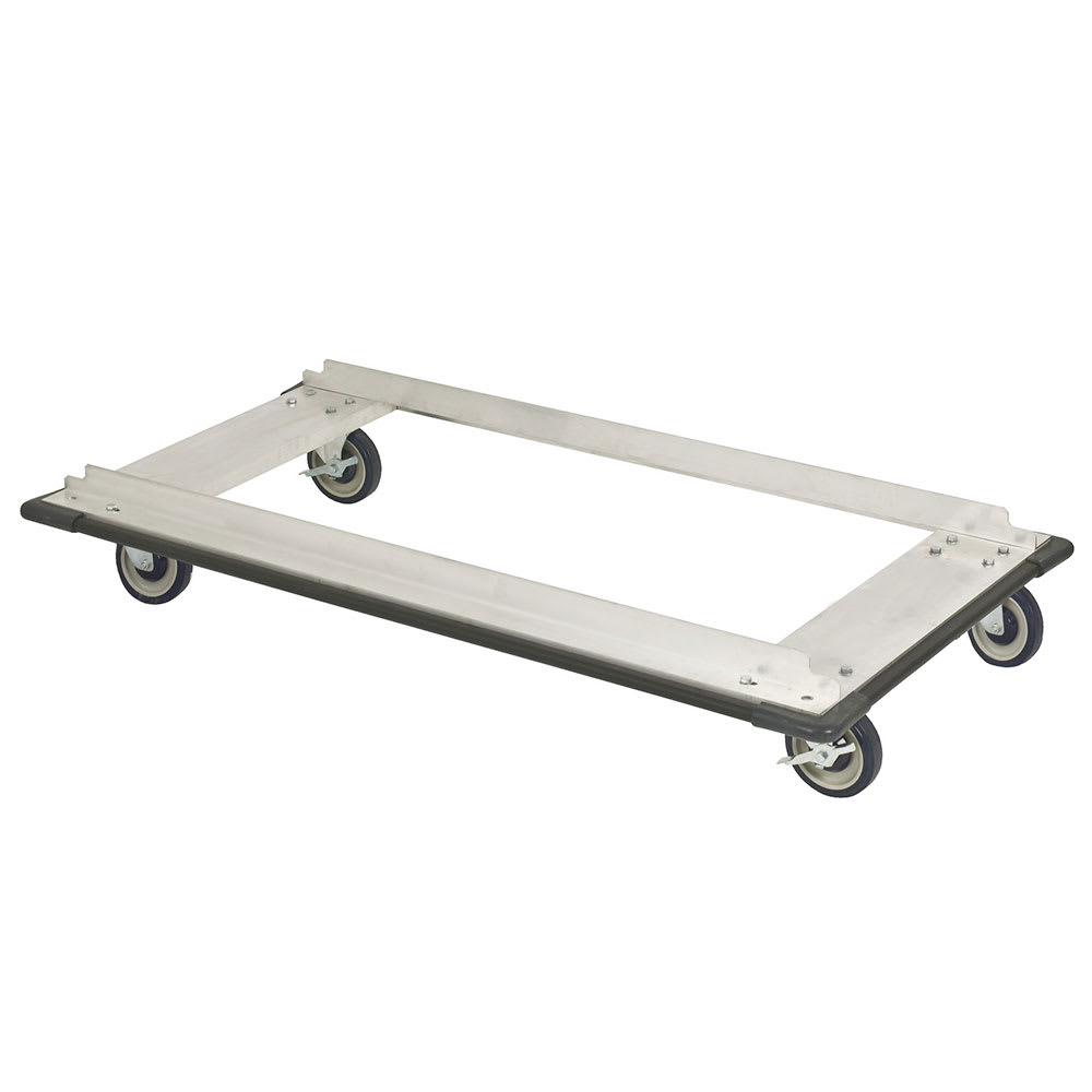"""Focus FTDA2448 Truck Dolly w/ Casters for 24 x 48"""" Shelf Sizes, Aluminum, NSF"""