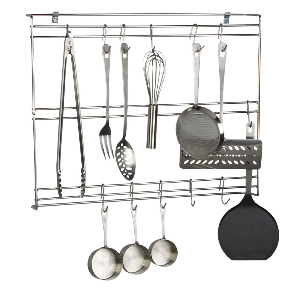Focus Fur1824chss 24 Wall Mount Utensil Rack W 20 Hooks Stainless Steel