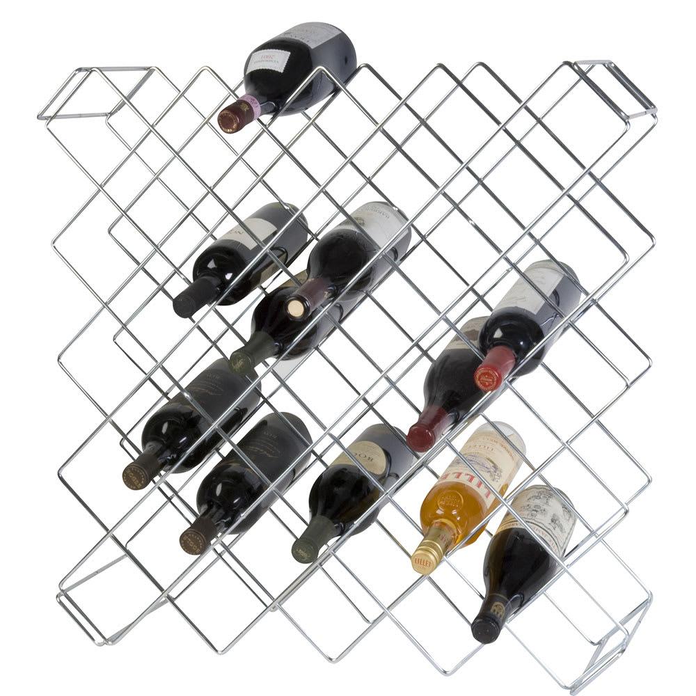 "Focus FWBR45CH 26.5""H Display Commercial Wine Rack Modules w/ (45) Bottle Capacity, Chrome"