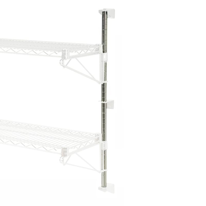 "Focus FWPS13CH 13""H Wall Mounted Shelving Post w/ Mounting Hardware"