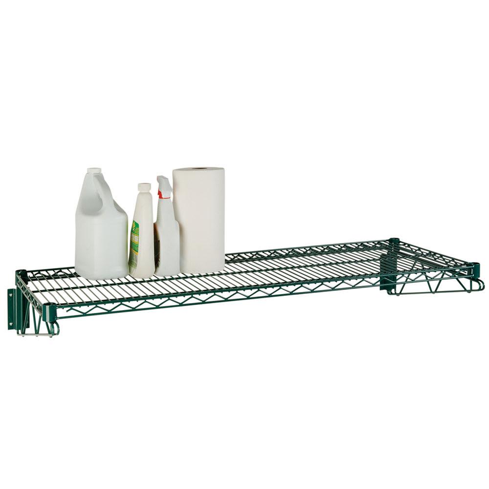 """Focus FWS1848GN Direct Wall Mount Kit w/ (2) 18""""D Brackets & (1) 48""""W Wire Shelf, Epoxy"""