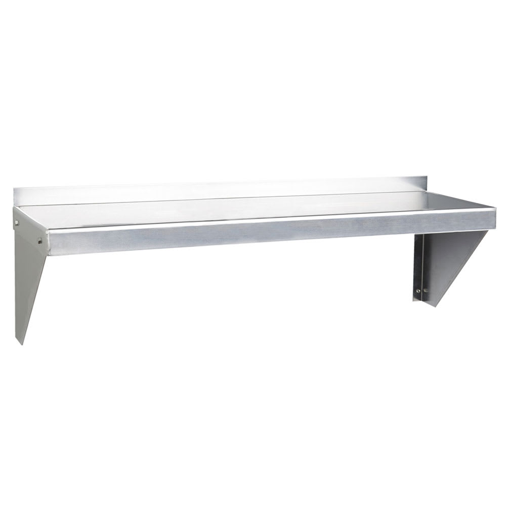"Focus FWSAL1236 Solid Wall Mounted Shelf, 36""W x 12""D, Aluminum"