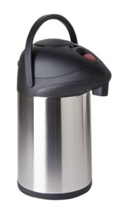 Focus KPW9325BT 2.5-L Push Button Airpot w/ Brew Thru, Stainless Vacuum Insulated