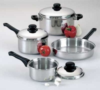 Focus KPWB9031CV Cover Only, For Sauce Pan, Dutch Oven, Easy Grip Black Handle, Stainless Steel