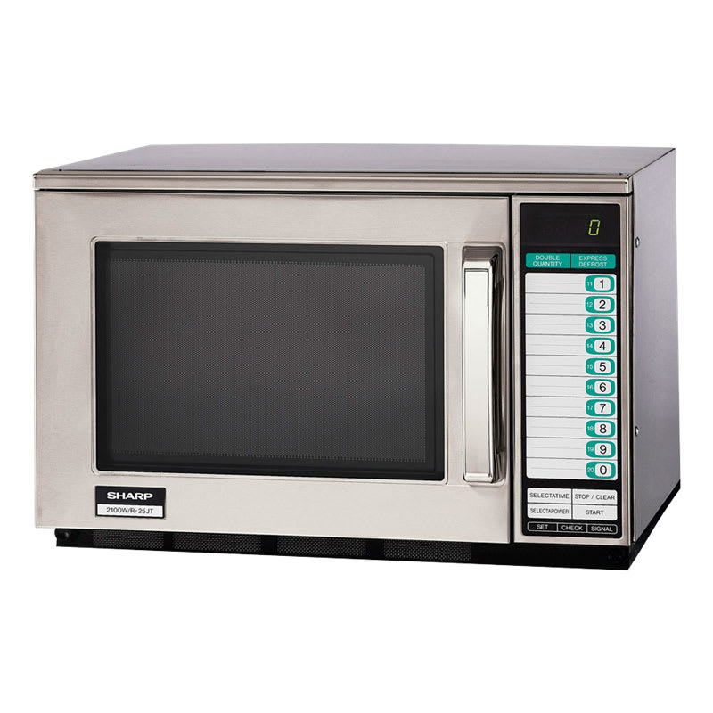 Sharp R25JTF 2100w Commercial Microwave Oven with Touch Pad, 230v/1ph