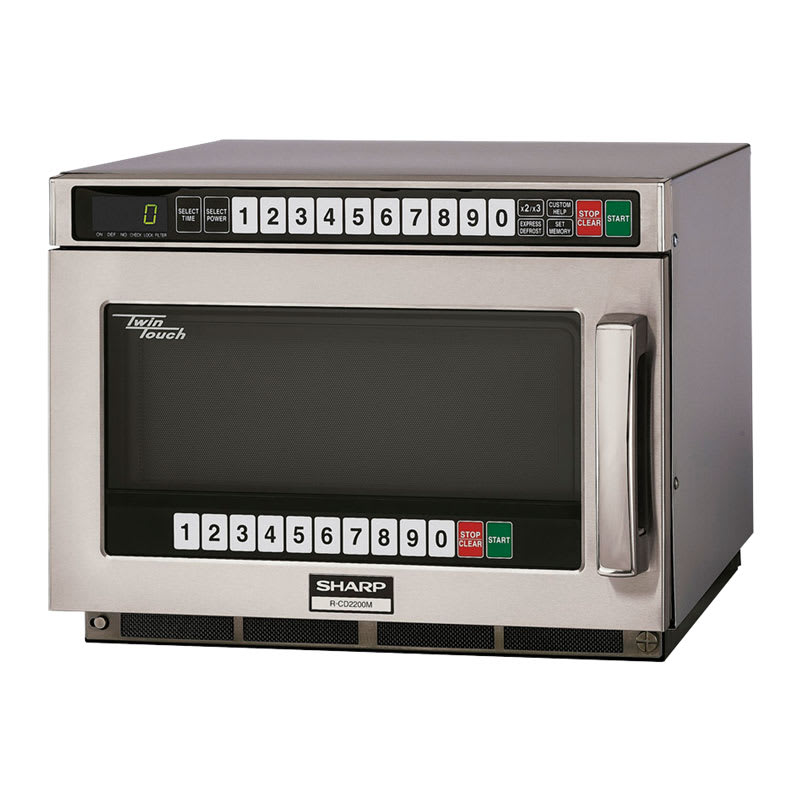 Sharp RCD2200M 2200w Commercial Microwave w/ Touch Pad, 230 208v/1ph