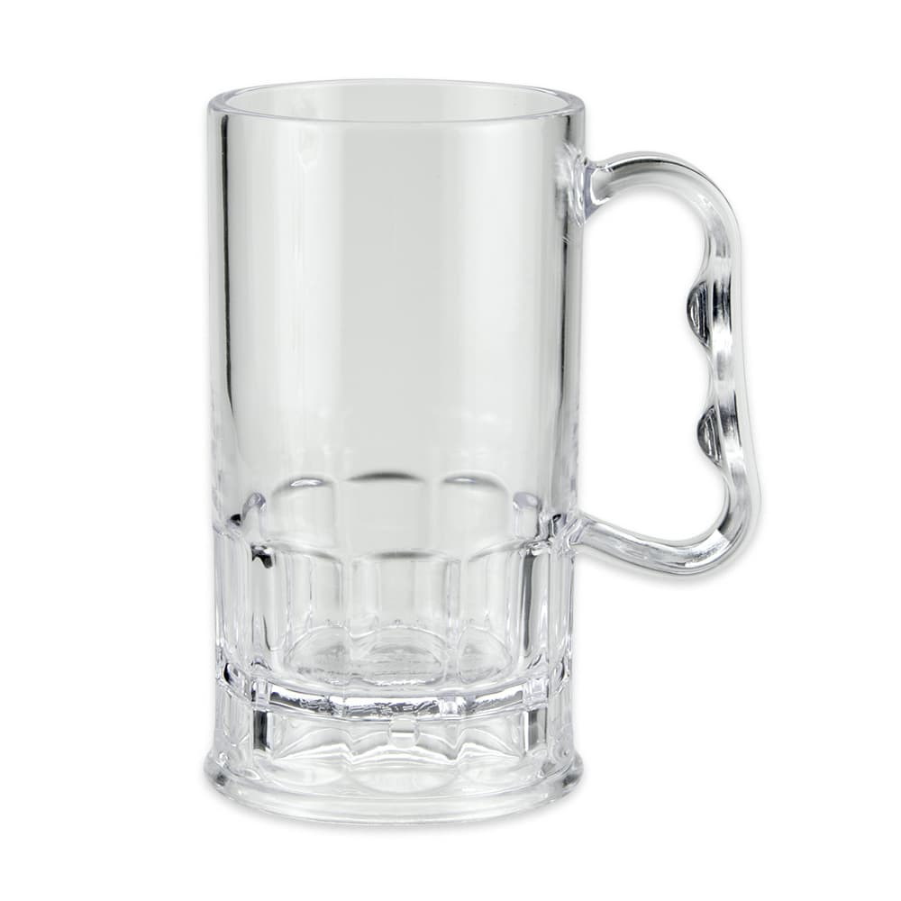 GET 00082-1-SAN-CL 10 oz Beer Mug, SAN Plastic, Clear
