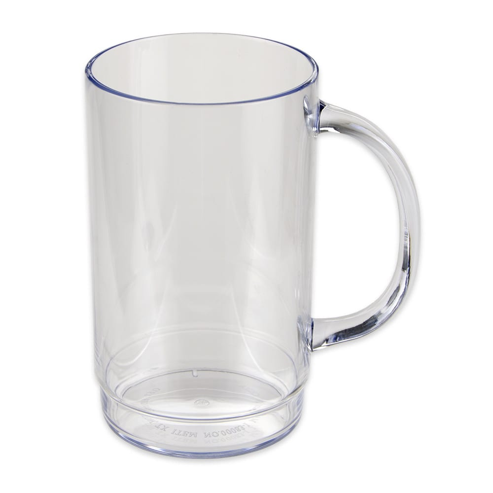 GET 00083-1-SAN-CL 20 oz Beer Mug, SAN Plastic, Clear